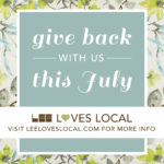 Give Back with us this July